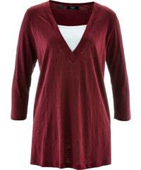 bpc bonprix collection 2in1 Shirt, 3/4-Arm in rot für Damen von bonprix
