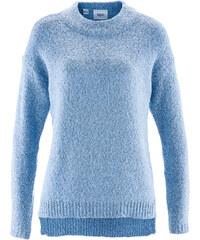 bpc bonprix collection Bouclé-Pullover langarm in blau für Damen von bonprix