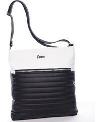 Carine Trendy kabelka přes rameno Simona, černo-bílá