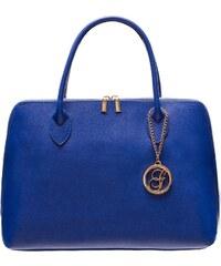 Glamorous by Glam Dámská kožená kabelka ražená - královsky modrá