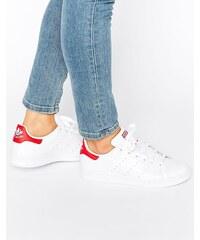 Adidas Originals - Stan Smith - Baskets - Blanc et rouge - Blanc