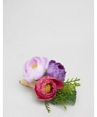 ASOS Wedding - Fleur en tissu - Violet - Violet