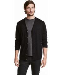 H&M Propínací svetr z merinovlny