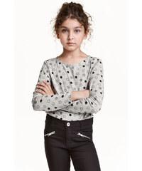 H&M Žerzejové triko s potiskem