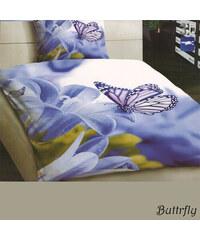 YooY 3D fialové povlečení Motýl