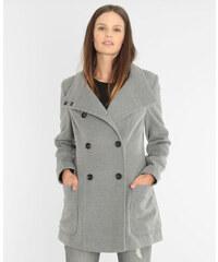 Manteau boutonné gris chiné, Femme, Taille 34 -PIMKIE- MODE FEMME