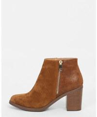 Boots effet croco marron, Femme, Taille 36 -PIMKIE- MODE FEMME