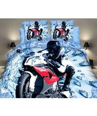 Povlečení MOTORKA BMW 3D set 4 ks, 140x200 cm, 2x povlak 70x80 cm prostěradlo 160x200 cm MyBestHome