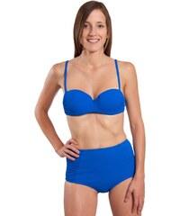 Rae Maillot de bain 2 pièces Bandeau Rétro Taille Haute Bleu roi