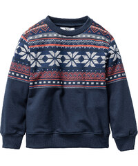 bpc bonprix collection Sweat-shirt imprimé, T. 80/86-128/134 bleu manches longues enfant - bonprix