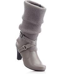 bpc bonprix collection Bottes gris avec 8 cm talon entonnoirchaussures & accessoires - bonprix