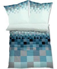 bpc living Bettwäsche Pixel, Linon in blau von bonprix