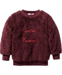 bpc bonprix collection Teddyfell Pullover, Gr. 80/86-128/134 langarm in rot für Mädchen von bonprix