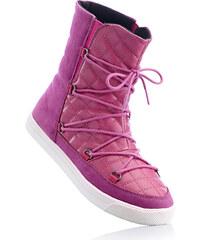 RAINBOW Schnürstiefelette in pink für Damen von bonprix