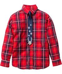 bpc bonprix collection Hemd mit Krawatte, Gr. 116/122-164/170 langarm in rot von bonprix