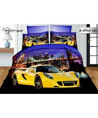 Povlečení YELLOW CAR CAR 3D set 4 ks, 140x200, 2x povlak 70x80 cm prostěradlo 200x220, MyBesthome