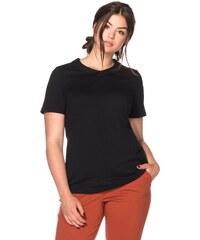 Große Größen: sheego Trend T-Shirt mit Bubikragen, schwarz, Gr.40/42-56/58