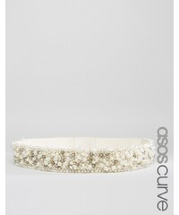 ASOS CURVE - Ceinture ornée de perles - Crème