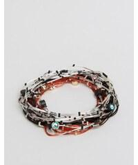 ASOS - Lot de bracelets à imprimé géométrique et petits motifs - Multi