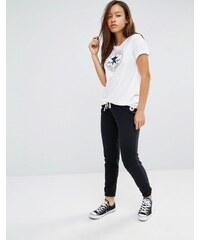 Converse - Pantalon de survêtement slim classique à logo - Noir - Noir