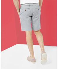 Ted Baker Oxford-Shorts mit Fischgrätmuster Marineblau