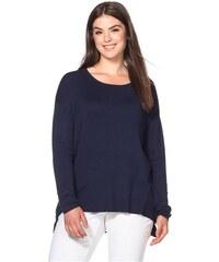 Damen Casual Oversized Pullover mit Zipper SHEEGO CASUAL blau 40/42,44/46,48/50,52/54,56/58