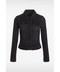 Veste jeans femme unie cintrée Noir Coton - Femme Taille L - Bonobo