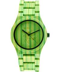 Lesara Armbanduhr aus farbigem Bambusholz