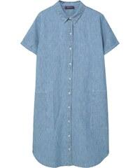 Violeta by Mango Kleid mit Hemdschnitt - hellblau