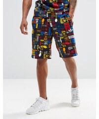adidas Originals - AZ1098 - Shorts mit mehrfarbigem Logo - Schwarz