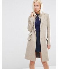 ASOS - Manteau slim en laine mélangée à poche fantaisie - Marron