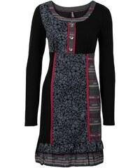 RAINBOW Pletené šaty s pestrými vsadkami bonprix