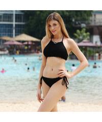 Lesara Neckholder-Bikini mit Spitze - Schwarz - S