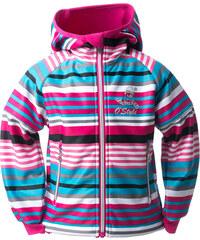 O'Style Dívčí softschellová bunda s tučňákem - růžová
