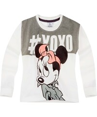 Disney Minnie Sweatshirt naturweiß in Größe 104 für Mädchen aus 60 % Baumwolle 40 % Polyester