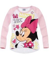 Disney Minnie Langarmshirt weiß in Größe 104 für Mädchen aus 60 % Baumwolle 40 % Polyester