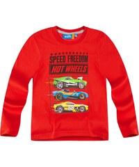 Hot Wheels Langarmshirt rot in Größe 104 für Jungen aus 100% Baumwolle