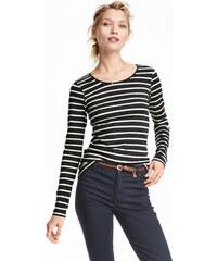 H&M Žerzejové triko, dlouhý rukáv