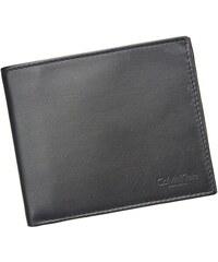 Pánská kožená slim peněženka Calvin Klein Boby - černá