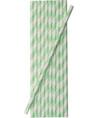 Bloomingville Papírové slámky Green stripes