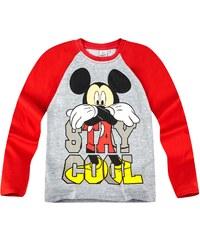 Disney Mickey Langarmshirt grau in Größe 98 für Jungen aus 100% Baumwolle Grau: 60% Baumwolle 40% Polyester