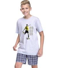 Taro Chlapecké pyžamo Moro šedé