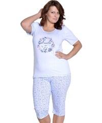 Taro Dámské pyžamo Magda světle modré nadměrná velikost