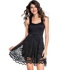 ad1d760e9961 NoName Společenské šaty krajkové černé Amanda