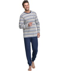 Taro Dlouhé pánské pyžamo Max béžové