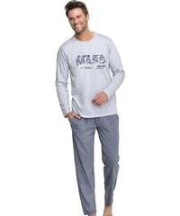 Taro Pánské pyžamo Karel šedé