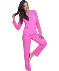 Taro Froté dámské pyžamo Tina růžové