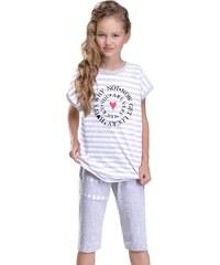 Taro Dívčí pyžamo Amelie Lucky šedé