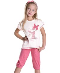Taro Dívčí pyžamo Kralíček s motýlkem