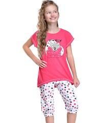 Taro Dívčí pyžamo Medvídek růžové